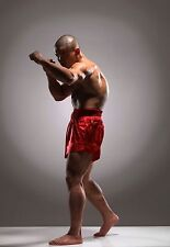 Framed Print - Shaolin Monk Warrior Shadow Boxing (Picture Poster Kung Fu MMA)