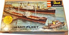 VINTAGE '56 REVELL MERCHANT FLEET: LONG BEACH, JL HANNA, HAWAIIAN PILOT SEALED