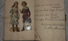 1882 RARO SCRAPBOOK ALBUM DIARIO  MANOSCRITTO CON AUTOGRAFI E DEDICHE + RITAGLI