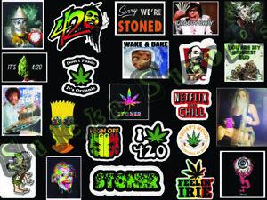 23 individual weed theme 420 Get High MJ Vinyl Sticker Decals