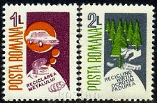 1986 Recycling,RRR,Metal,Wood,Trees,Paper,Auto,Coins,savings,Romania,Mi.4318,MNH