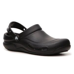 🔴 Crocs Bistro Slip Resistant Men Work Shoe Slide Sandals Waterproof