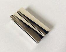 Conjunto de 1 Plata Brillante Plana Cierre magnético _ size 40mm x18mm _ la apertura de 40mm X 5mm