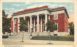 H59/ Bridgeton New Jersey Postcard c1910 U.S. Post Office Building