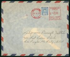 Mayfairstamps Chile 1971 Metered to Los Angeles Airmail cover wwo1263