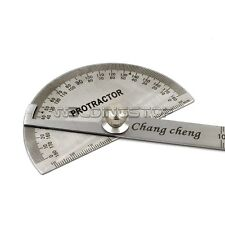 Economic Round Head Rotary Protractor Angle Ruler Stainless Steel