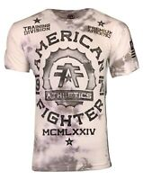 AMERICAN FIGHTER Mens T-Shirt BROCKP ORT Premium Athletic Biker MMA 19A $40