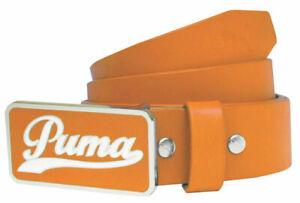 PUMA GOLF BELT ORANGE PGA TOUR SCRIPT LEATHER ALL SIZES Small Medium Large NEW