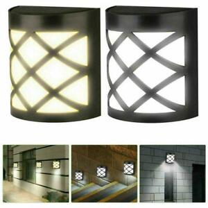 6 LED Garden Solar Wall Fence Door Shed Step Lights Outdoor Bright Fence H4H8