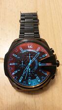 DIESEL XXL Chronograph Herrenuhr Mega Chief irisierendes Glas DZ4318 NEU