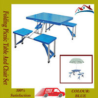 Portable Folding Garden Camping Outdoor BBQ Dining Picnic Party Table Chairs Set
