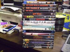 (19) Bruce Willis DVD Lot: (4) Die Hard  Sin City  Looper  12 Monkeys Armageddon