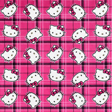 "Springs Creative Sanrio Hello Kitty Plaid  100% polyester 60"" Fabric by the yard"