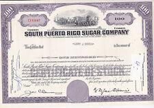 South Puerto Rico Sugar Company-shares v.1961