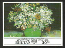 Bhutan Stamp - Van Gogh painting, Vase with Zinnias and other Flowers Stamp - NH