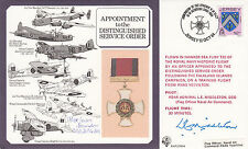 DM4 Distinguished Service Order Cover  Signed by Sqn Ldr Lewis Brandon DSO,DFC
