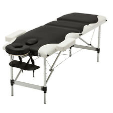 """84""""L Portable Aluminum 3 Fold Massage Table Facial Spa Bed with Carry Case"""