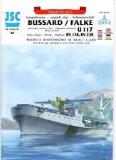 Card Model Kit – German Catapult Ship Bussard