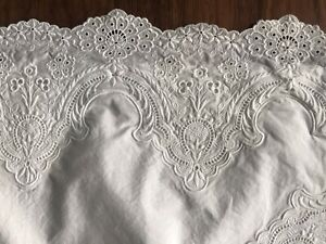 Pratesi Italy 1 Pc Embroidered Euro Sham White 100% Egyptian Cotton