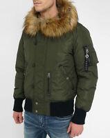 Diesel W ESK Flight Jacket # 00SSFH 0AANL 5AV Olive Men SZ M - XL Retail $348