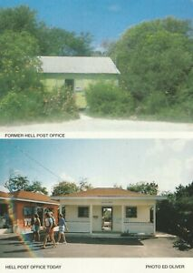 Cayman island with Hell post office on    the island.