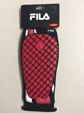 Fila Noeoprene Custom Fit Padded Soccer Shin Guard Small Medium Red Shinguard
