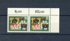BUND Nr.409f5 ** Eckrandpaar PLATTENFEHLER EURO 60,-++ (100648)