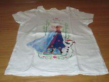 """Tee-shirt motif """" La reine des neige """",MC,T 8/10ans,marque H&M,enTBE"""