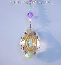 Fine Crystal 50mm Aurora Borealis Cats Eye Beaded SunCatcher Lilli Heart Designs
