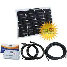 30W 12V semi-flessibile etilene tetrafluoroetilene SOLAR KIT DI RICARICA Camper, Caravan, Barca/Yacht