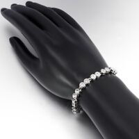 Silver 3mm Round Crystal Tennis Bracelet with Swarovski Elements
