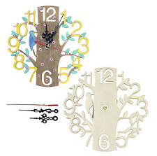 DIY Clock. Decorate your own Clock Wooden crafts Spring and Easter Gift Idea