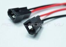 2x Universal HID Retrofit Bi-Xenon Projector High Beam Male Plug Pigtail Wire