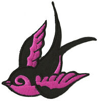 Patche écusson blason Hirondelle tattoo thermocollant patch rock Oiseau