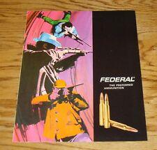 Original 1970 Federal Ammunition Sales Brochure 70
