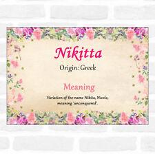 Nikitta nombre significado Floral Certificado