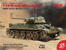 ICM 1/35 Russian T-34/76 WWII Soviet Medium Tank # 35365