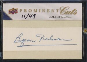 BYRON NELSON 2009 PROMINENT CUTS PSA/DNA AUTO #11/49