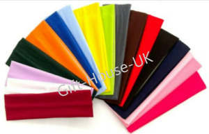 7cm Width Elasticated Plain Stretchy Fabric Kylie Headband, Sport, Lycra, Gym UK