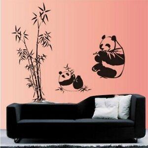 Mother Baby Pandas Bamboos Nursery Decor Bedroom Vinyl Decals Wall Stickers