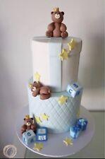 Teddy Bear 3D Edible Cake Toppers Fondant, Gum Paste, Icing Sugar, Decoration.
