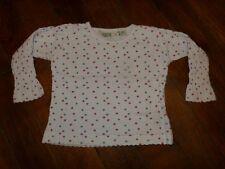 T-shirt ML blanc + petites fleurs - H&M - 2 ans - Très bon état