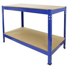 Mesa de Trabajo Profesional Sin Tornillos en Acero Inoxidable Azul 120cm Q-Rax