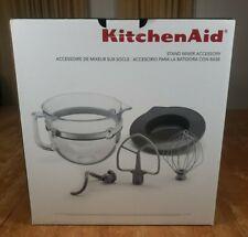 KitchenAid 6 Qt Glass Bowl Bowl-Lift Stand Mixer Lid Wisk Beater Hook Lot Kit