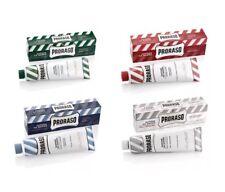 Pack Of 4 Proraso shaving cream In Tubes green/blue/red/white 150ml tubes