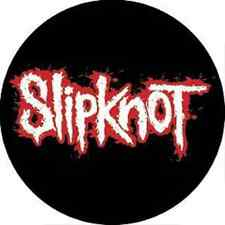 SLIPKNOT 1.5-inch BADGE Button Pin Red & White Logo NEW OFFICIAL MERCHANDISE
