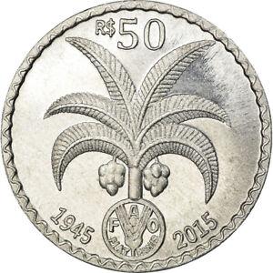 [#785564] Coin, CABINDA, 50 Reais, 2015, 70ème anniversaire du FAO, MS(63)