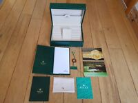 Rolex Day-Date 18238 Box and all Rolex Booklets