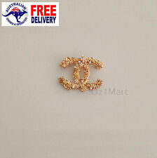 NEW Fashion BROOCH Gold Texture Pearls Office Casual Pin Gift