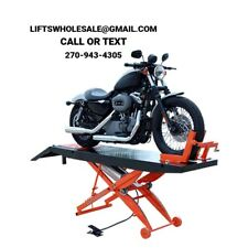New Titan 1,000 lbs. Motorcycle Lift with Front Wheel Vise and Front Extensions